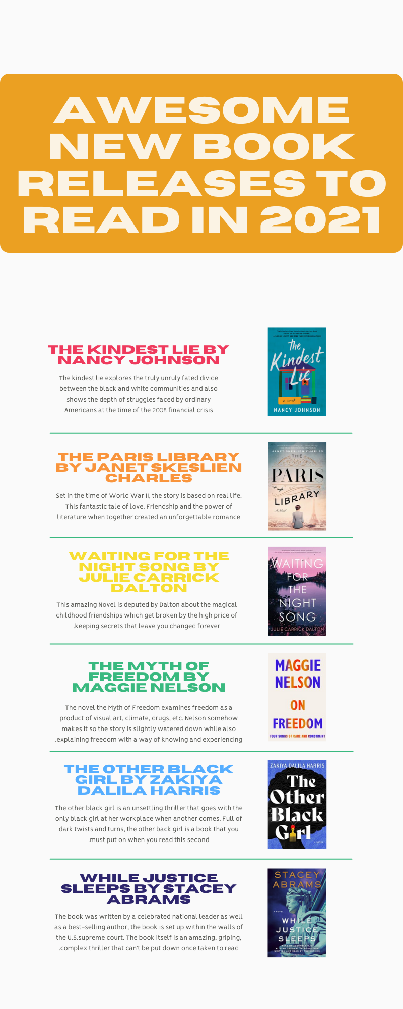 New Book Releases To Read